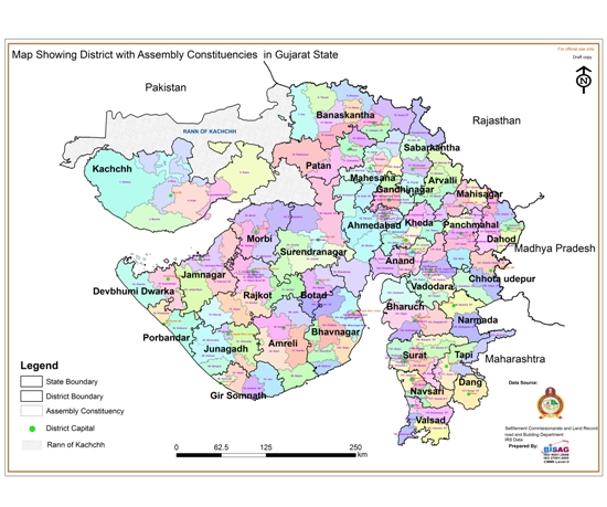 List of Districts in Gujarat State - Latest All Names of Gujarat Districts