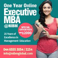 1 Year Online MBA  by NIBM