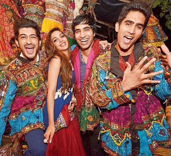 Fugly Cast Photos Wearing Garba Dresses at Nehru Nagar Shopping Market in Ahmedabad