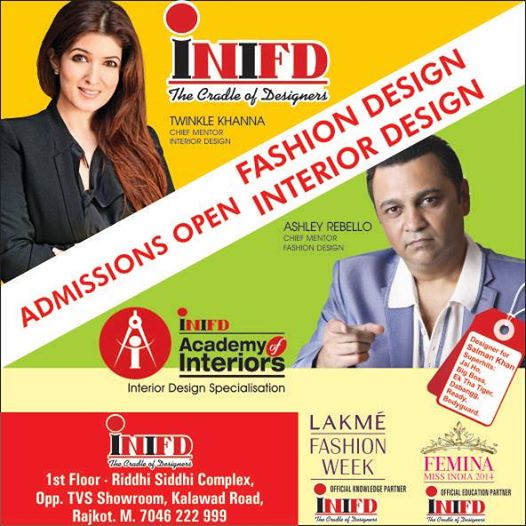 INIFD Fashion Designing Institute Syllabus Course Fees In Rajkot Gujarat