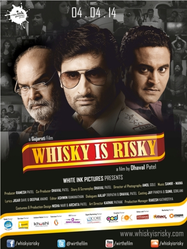 Whisky is Risky - Gujarati Film 2014 Poster and Cast Crew Details