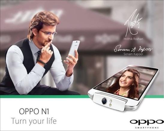 Hrithik Roshan is New Brand Ambassador of OPPO Mobile in India 2014