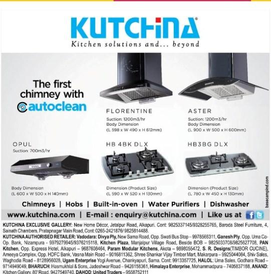 Kutchina kitchen solutions in Vadodara Gujarat