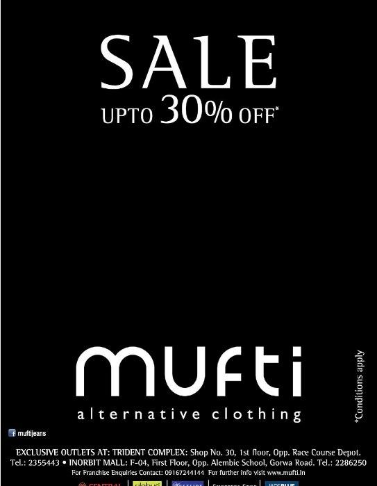 MUFTI Alternative Clothing Special Offer in Vadodara Gujarat