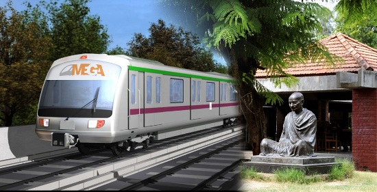 Metro Train Project in Gujarat - Metro Train Project Ahmedabad to Gandhinagar - Route