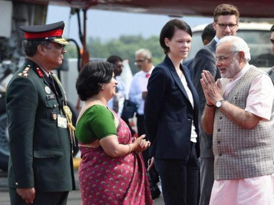 Narendra Modi in Brazil Indian Prime Minister Narendra Modi in Brazil on 13 July 2014 for BRICKS Summit