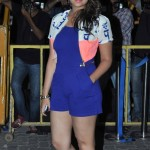 Parineeti Chopra in Jumpsuit Photos – Hot Legs Pics Sexy Thighs Show Images in Blue One Piece Dress with White Jacket at Karan Johar's Birthday Party 2014