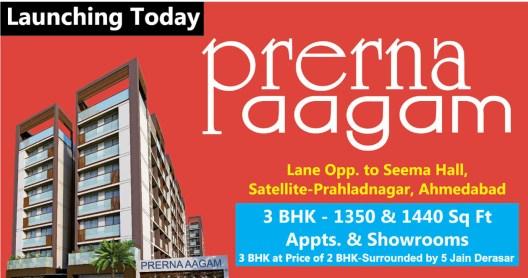 Prerna Aagam Ahmedabad 3 BHK Apartments  Showrooms by Prerna Group