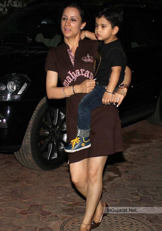 Sanjay Dutts wife Maanyata Dutt caring her Sweet Boy in Perfect Gujarati Style like Gujarati Urban Women
