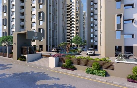 Satyadeep Heights 2 BHK3 BHK Residential Apartments at Prahladnagar Extension Ahmedabad by Deep Group