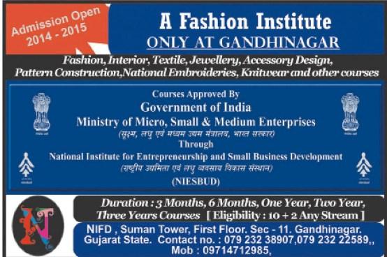 Best Fashion Design Institute Only at Gandhinagar City Address  Contact Number