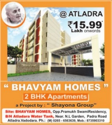 Bhavyam Homes in Vadodara by Shayona Group