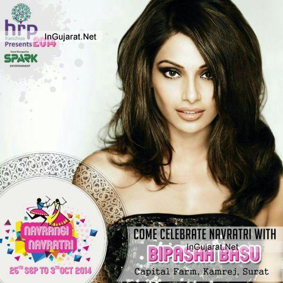 Bipasha Basu in Surat Gujarat - Have Fun for 2014 Dandiya Raas at NAVRANG NAVRATRI with Bipasha Basu in Surat