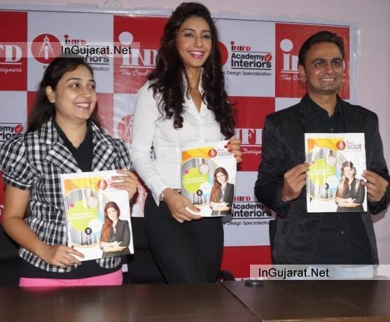 Bollywood Actress MAHEK CHAHAL in INIFD Rajkot for INIFD Academy of Interiors Lunching