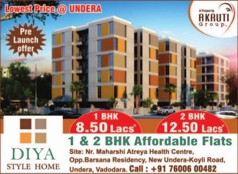 Diya Style Home in Vadodara by Akruti Group