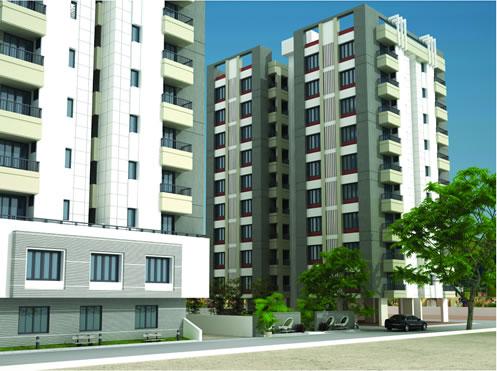 Durga Heights in Vadodara 2 BHK Luxurious Flats at Mujmahuda Vadodara by Trinity Land Developers