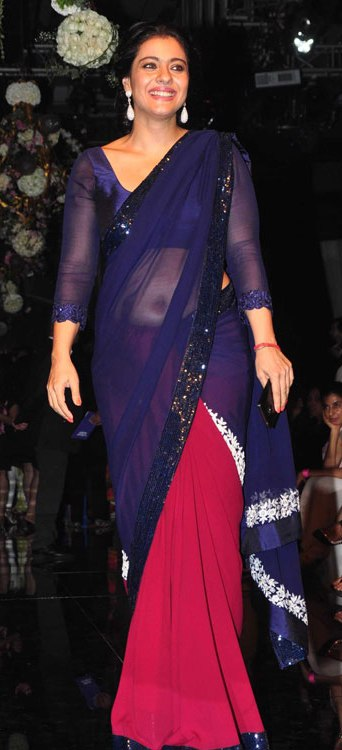 Kajol Devgan in Transparent Saree