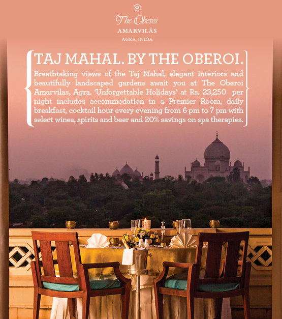 Oberoi Monsoon Packages 2014 - Enjoy Independence Day Weekend at The Oberoi Amarvilas AGRA India