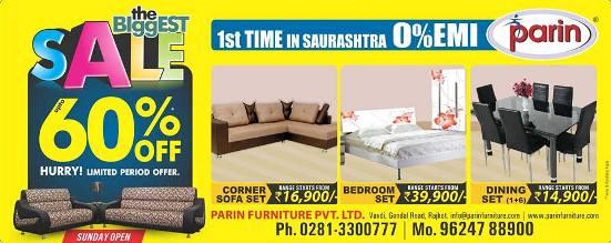 PARIN Furniture Pvt Ltd in Rajkot – Biggest SALE at Parin Furniture Rajkot.jpg