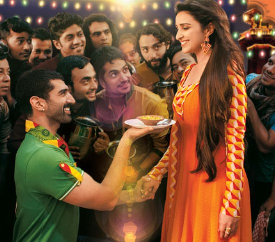 Parineeti Chopra Dress in Daawat-e-Ishq Movie Song - Latest Orange Anarkali Suit Images.jpg