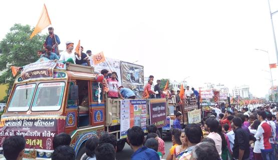 Rath Yatra in Rajkot Photos - Shri Krishna Janmashtami Rath Yatra Rajkot Gujarat Images Latest Pictures
