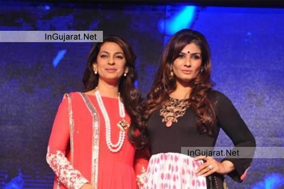 Raveena-Tandon and Juhi Chawla at SONYPAL launch