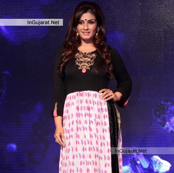 "Raveena Tondon in Latest Black and White Ankle Length Anarkali suits at ""SONY PAL ""channel Launch Event"