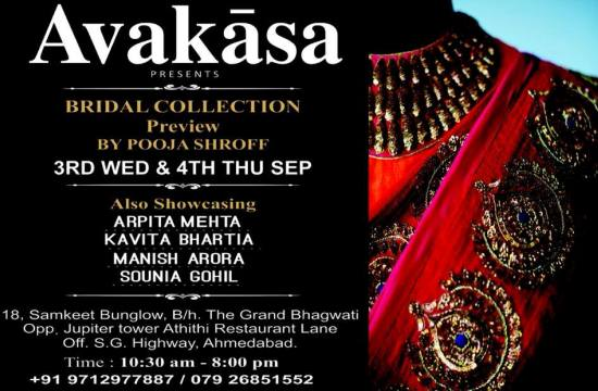 Avakasa Presents Bridal Collection in Ahmedabad by Pooja Shroff