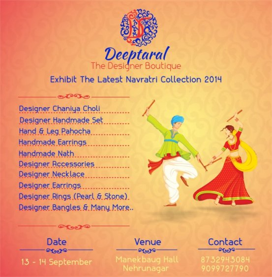 Deeptaral The Designer Boutique Exhibit the Latest Navratri Collection 2014 at Ahmedabad