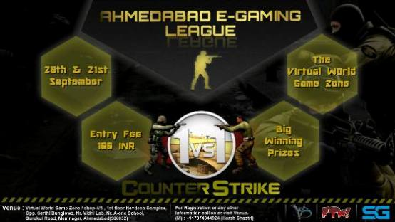 E Gaming League at Virtual World Cafe and Team Ahmedabad