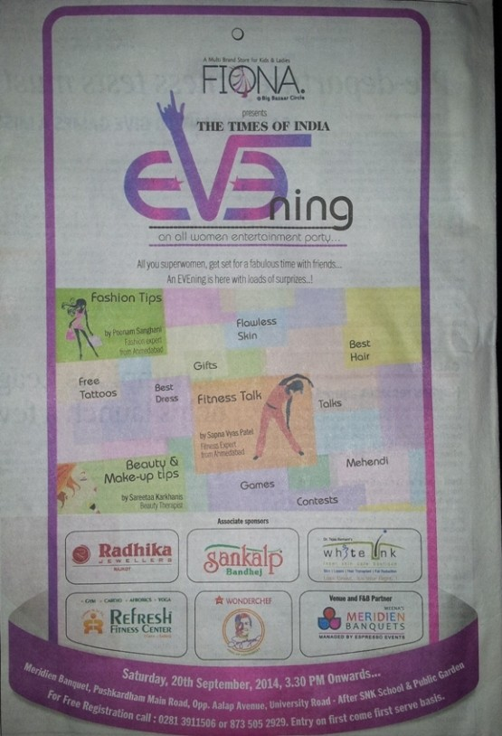 FIONA Presents EVENING an all Women Entertainment Party in Rajkot on September 2014