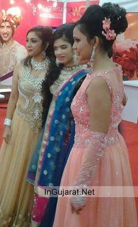 Maa Krupa Bridal Jewellery Worn by Model at Vibrant Vivah Ahemdabad Exhibition 2014