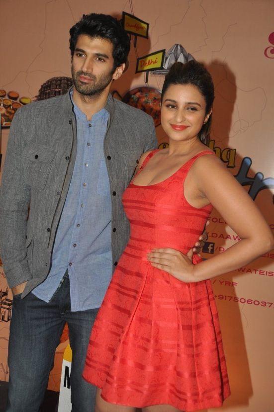 Parineeti Chopra in Red Dress - Hot Armpit Show Photos 2014