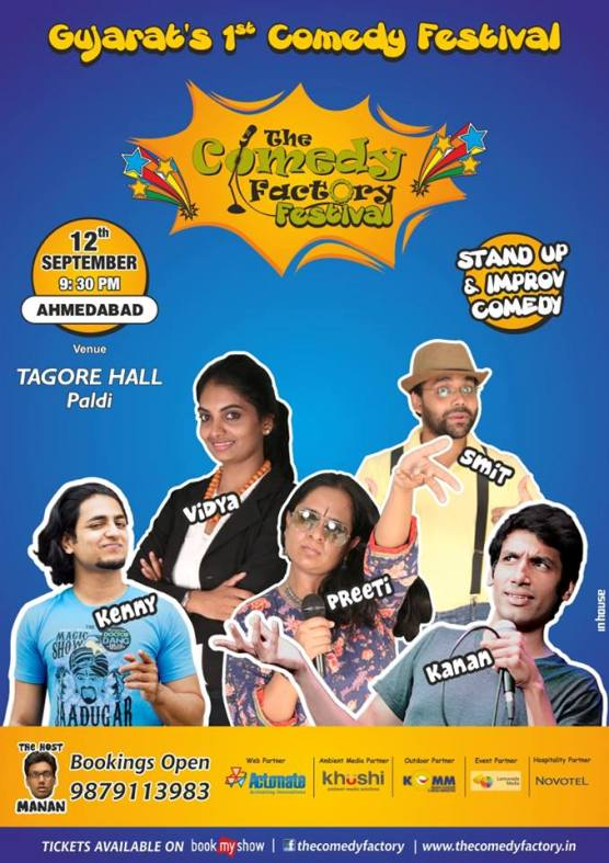 The Comedy Factory Festival 2014 in Ahmedabad at Tagore Hall Paldi