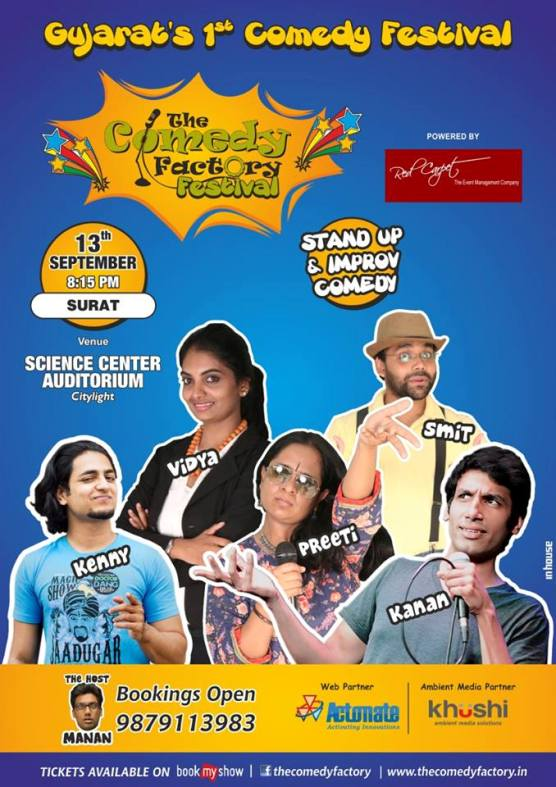 The Comedy Factory Festival 2014 in Surat at Science Center Auditorium