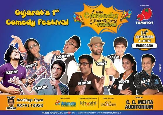 The Comedy Factory Festival 2014 in Vadodara at C C Mehta Auditorium