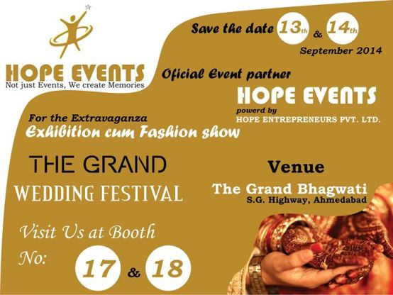 The Grand Wedding Festival 2014 Exhibition cum Fashion Show at Ahmedabad on September