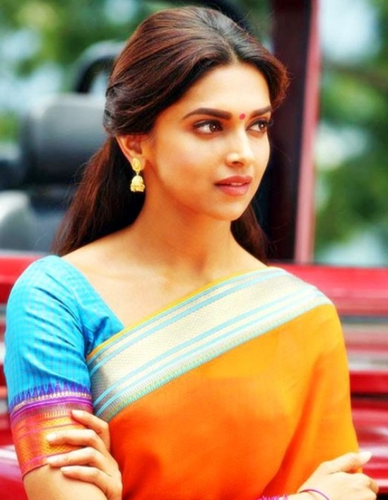 Deepika Padukone Cut Orange Saree Pics in Chennai Express Movie.jpg