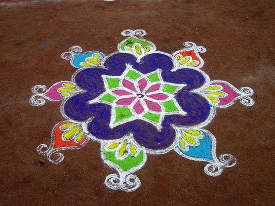 Diwali Rangoli 2014 Images - Photos - Pictures Gujarat