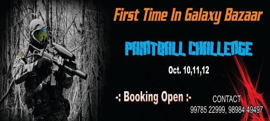 Galaxy Bazaar Genesis 2014 Rajkot Game Zone Paintball Challenge on October