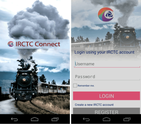 Indian Railway Launches IRCTC Connect Official Android App for e-ticketing Service