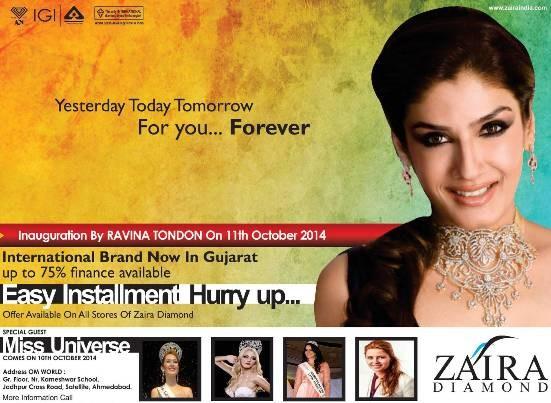Zaira Diamond Inauguration in Ahmedabad by Raveena Tandon