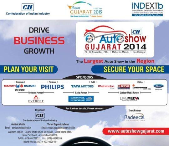 CII Auto Show Gujarat in Gandhinagar in 28th to 30th November 2014