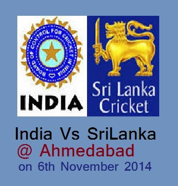 India Vs Srilanka ODI Cricket Match at Motera Stadium Ahmedabad on 6th November 2014