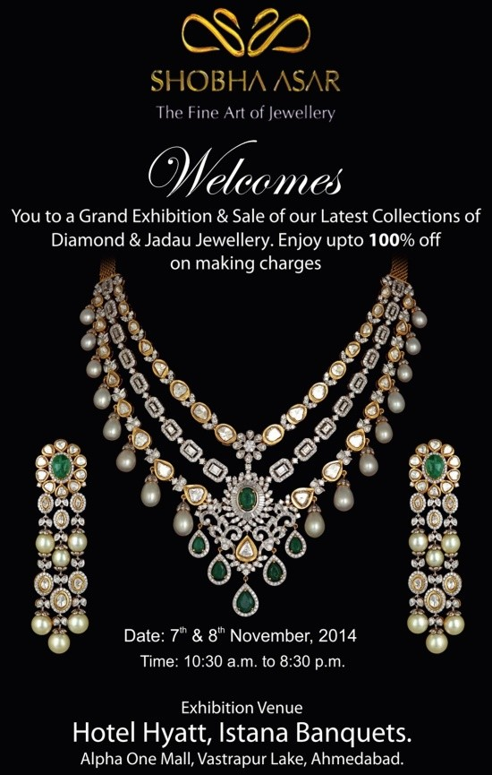 Jewellery Exhibition cum Sale at Hyatt Hotel Ahmedabad