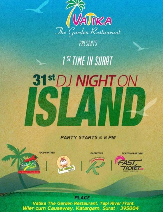 31st DJ Night on Island Party 2015 in Surat