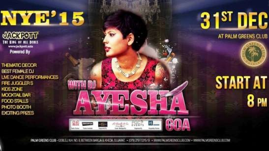 31st New Year's Eve 2015 with DJ Ayesha from Goa