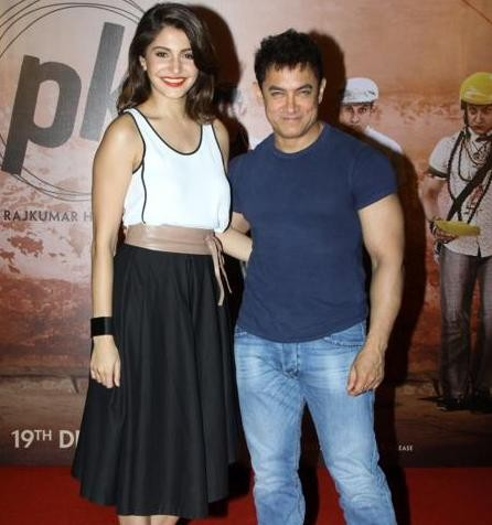 Aamir Khan and Anushka Sharma in Ahmedabad