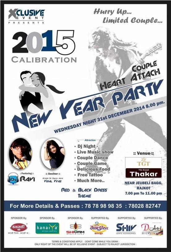 Couple Heart Attach New Year Party 2015 in Rajkot at TGT Thakar Hotel Jubeli Garden