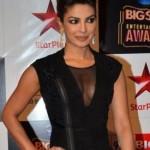 Full Length Front Zip Dress – Priyanka Chopra in Top to Bottom Black Zipper Hot One Piece Gown Photos